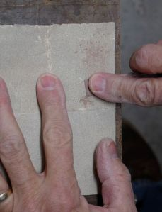 Fine tuning the Dutchman with sandpaper