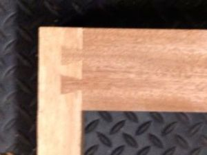 Practice twin, 14 degree dovetail for bottom stretcher