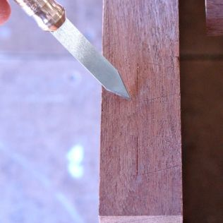 Initial scribed lines with Kerf Cadet II