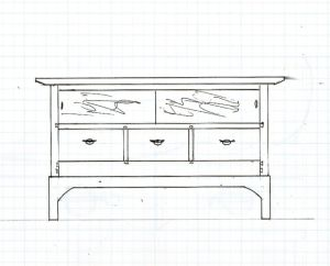 Sketch of HDTV Stand