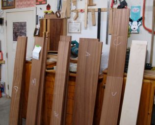 Better look at what I bought, 52 board feet of 6/4 Sapele plus Maple.