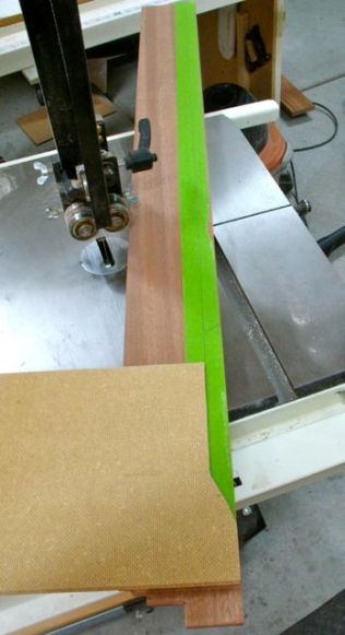 Transferring pattern onto the green tape for visibility