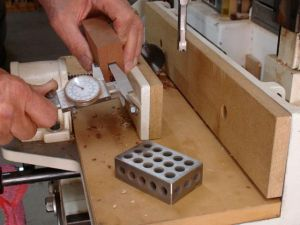 Setting up hollow chisel mortiser
