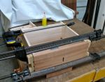 Fully assembled, half blind dovetails in front and sliding dovetail for back
