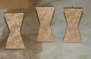 Dovetail inspired, Birdseye Maple Drawer Pulls