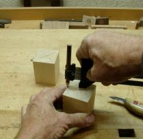 Next, a circle was drawn to begin the carve.