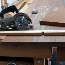 Cut to length with trim saw and guide