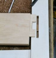 Twin tenons for front apron