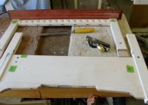 Rabbet plane and chisel to fine tune joint.