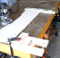 Jig in use on bottom of one side