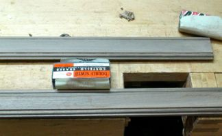CustomPictureFrameMolding-Final Sanding-Chalkboard Eraser