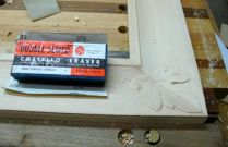 Final sanding, my favorite sanding block!