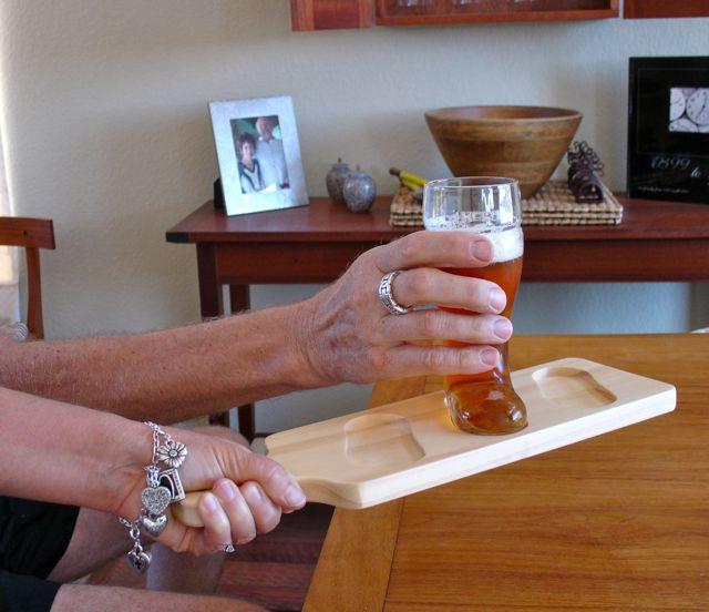 WoodworksbyJohn-LasVegasWoodworker-BeerBoot-servingpaddle
