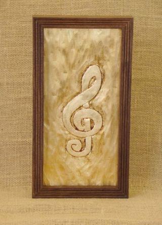MusiciansWallArt-WoodworksbyJohn-GildedTrebleClef-1