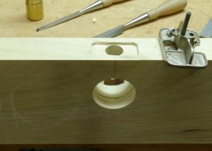 Lockset hole and mortise
