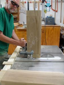 Cutting tenons on tablesaw