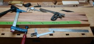 Lay-Out of Drawer Stretchers