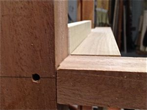 Offset drawer web frame
