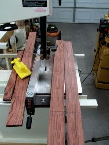 Re-sawing top material