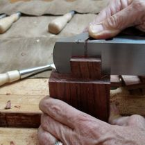 Rabbet block plane to adjust cheeks