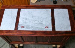 Italian Marble Set in Place