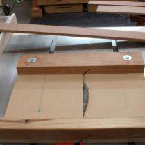 1.) After proper setup, cut end of board