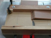 4.) Flip piece over, remove the least amount of material to orient the miter