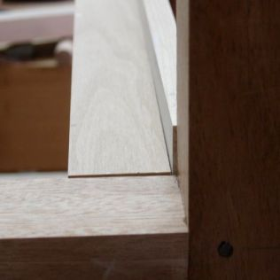 Outside view, drawer will sit proud of frame