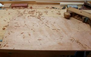 Door Panel, Flattening with Scrub Plane