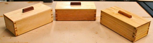 Three Dovetailed Boxes