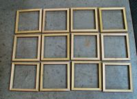 "Twelve frames, 8"" x 8"" each"