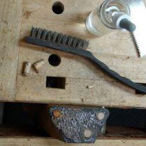 Dowels cut flush, then cleaned