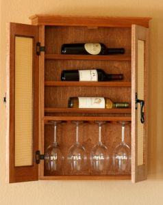 Wall Hung Wine Cabinet