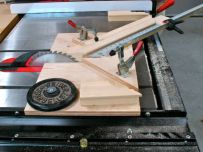 Counter weight for miter jib