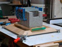 Cinder clock to keep frame flat