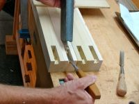 Cleaning Mortise; Chisel and Vacuum