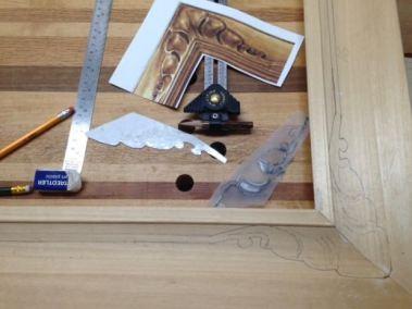 Materials to get design onto frame.