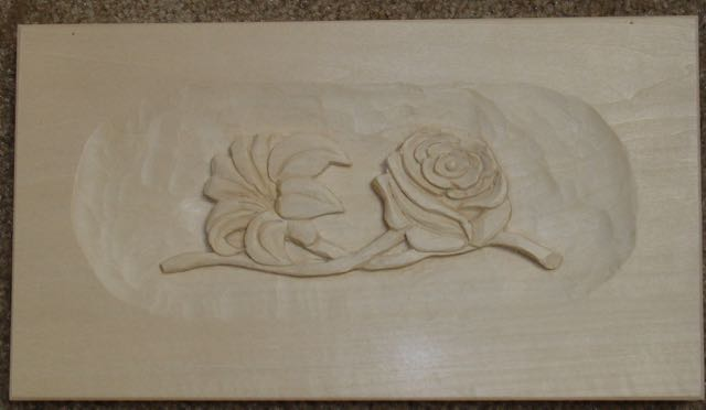 Mary may carving project rose lily woodworks by john