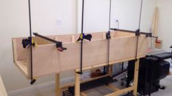 Sides glued/clamped to face frame