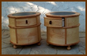 End Tables: Maple solids and veneer
