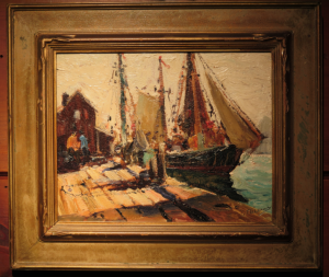 "Anthony Thieme Framed Painting 8"" x 10"""