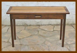 Hall Table: Walnut & Zebrawood