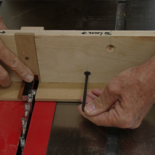 Initial set-up using 3/8 gauge block