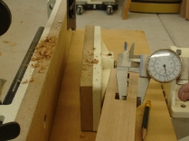 Caliper to exactly center mortise
