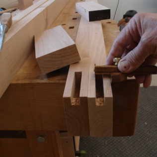 Measure mortise
