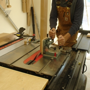 Cheek cuts with tenon jig