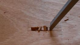 Begin chopping from center