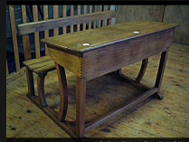 Antique Dutch School Desk