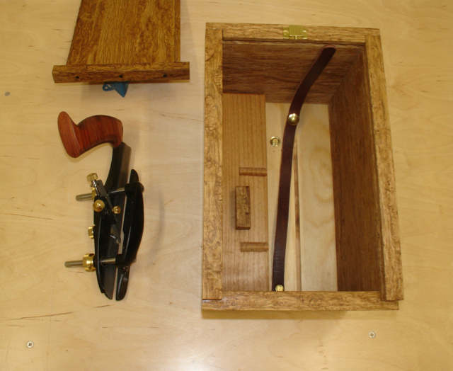 Plane removed note blade storage & Small Plow Plane Box Complete | Woodworks by John