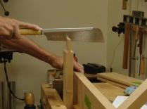 Cutting the haunch for the top